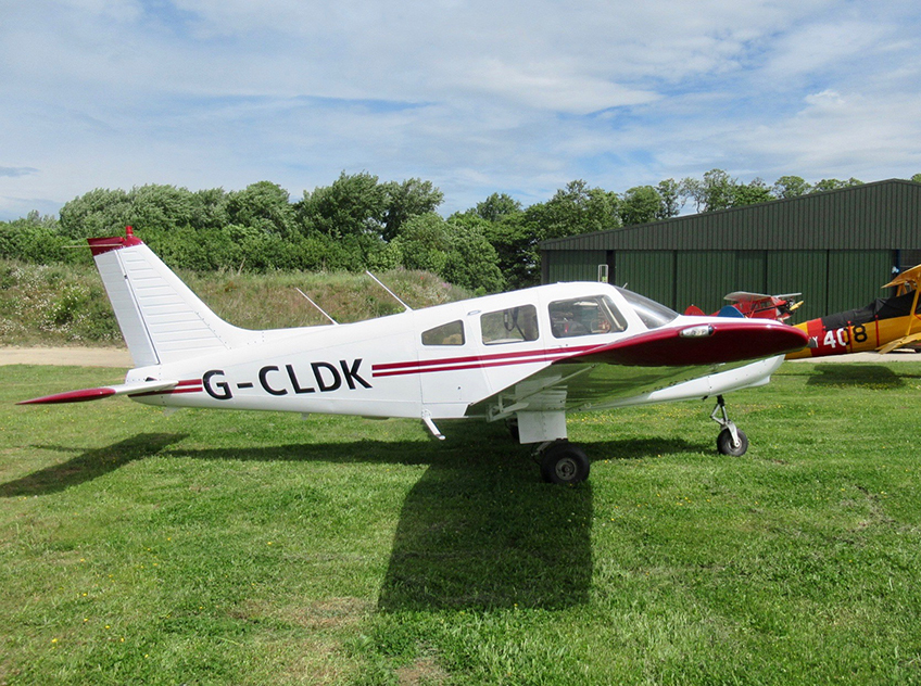 A photo of the G-CLDK aircraft.